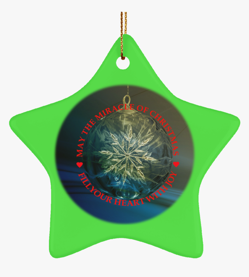 Ceramic Tree Ornaments Christmas Miracle Crafted Red - Christmas Ornament, HD Png Download, Free Download