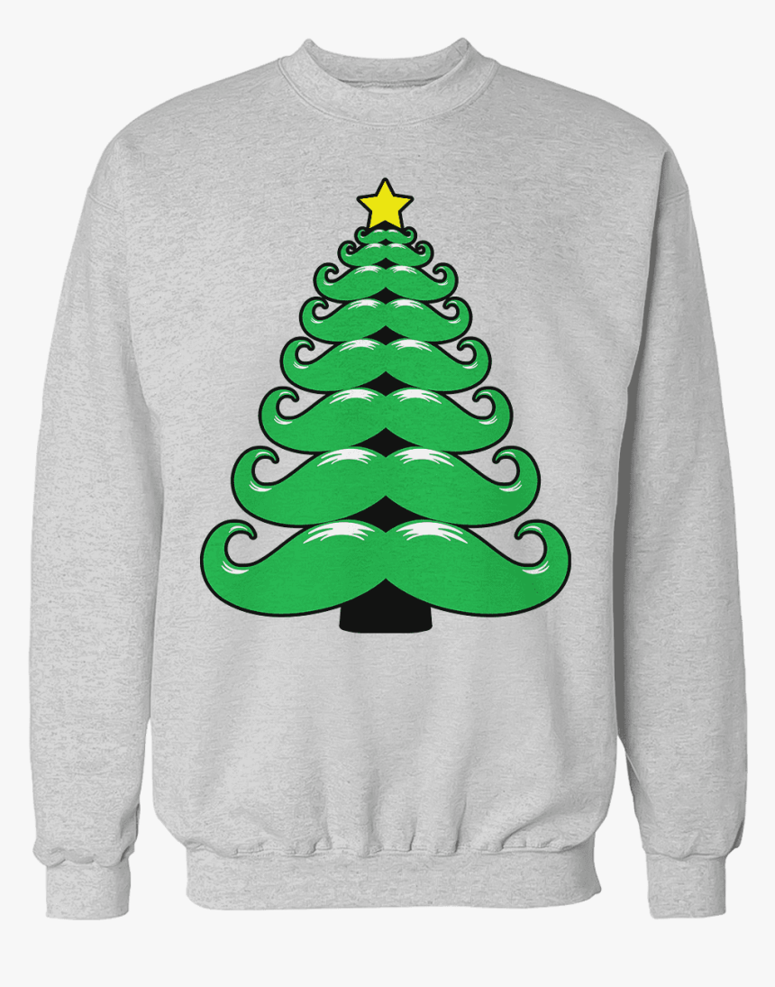 Mustache Christmas Tree - T-shirt, HD Png Download, Free Download