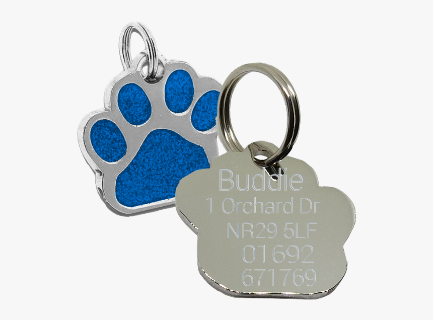 Paw Print Dog Tag , Png Download - Pet Tag, Transparent Png, Free Download