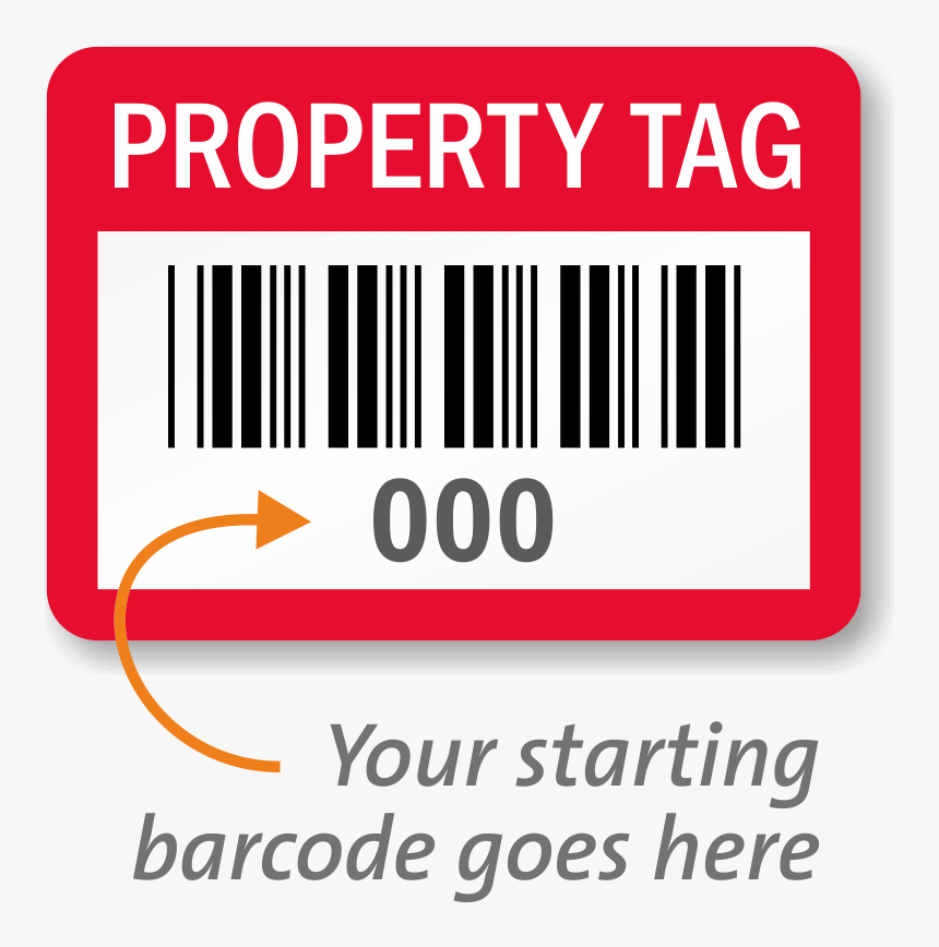 Transparent Blank Price Tags Png - Barcode For Fixed Assets, Png Download, Free Download