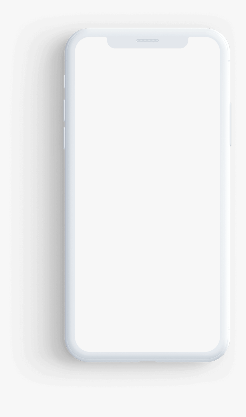 White Mobile Frame Png, Transparent Png, Free Download