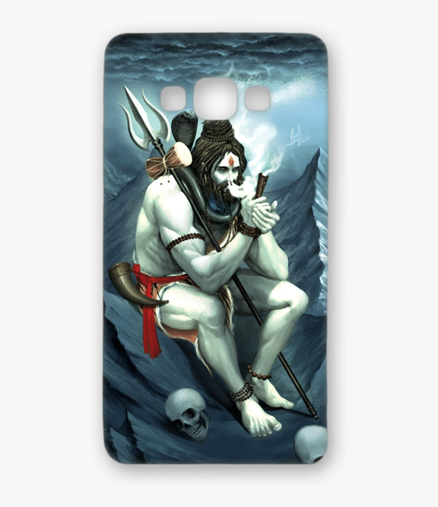 Designer Hard-plastic Phone Cover From Print Opera - Lord Shiva Smoking Chillum, HD Png Download, Free Download