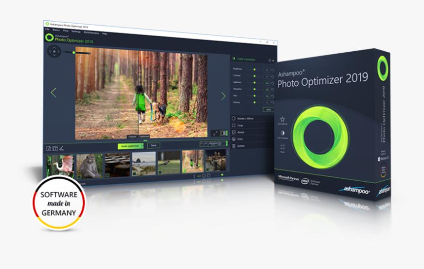Ashampoo Photo Optimizer - Ashampoo Photo Optimizer 2019, HD Png Download, Free Download