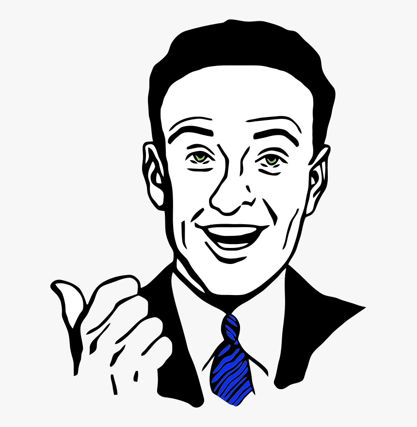 Pointing Man 2 - Thumbs Up Guy Clip Art, HD Png Download, Free Download
