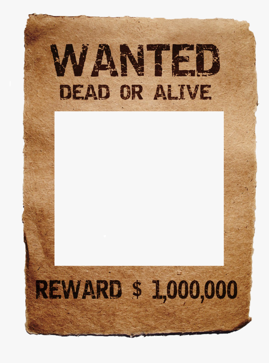 Wanted Poster Templates - Wanted Poster, HD Png Download, Free Download