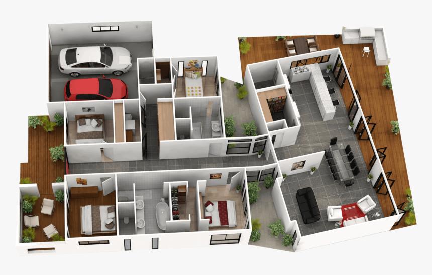 Bedroom 1 Ensuite Bedroom 2 Bedroom 3 Bedroom 4 Bathroom 4 Bedroom Tiny House Floor Plans Hd Png Download Kindpng