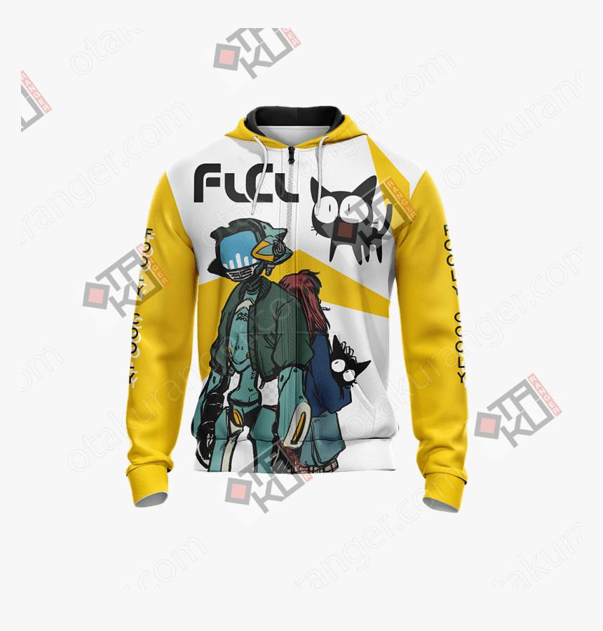 Flcl New Unisex Zip Up Hoodie Jacket - Hoodie, HD Png Download, Free Download