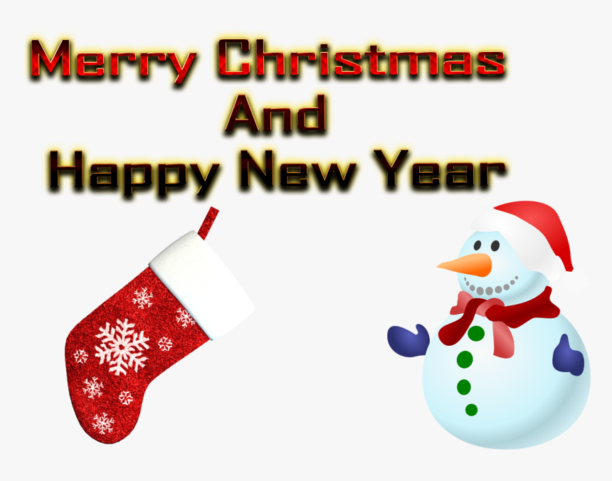 Christmas And New Year Png Image Download - Christmas Stocking, Transparent Png, Free Download