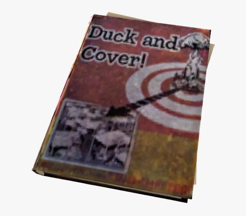 Transparent Blank Book Cover Png - Duck And Cover Fallout, Png Download, Free Download