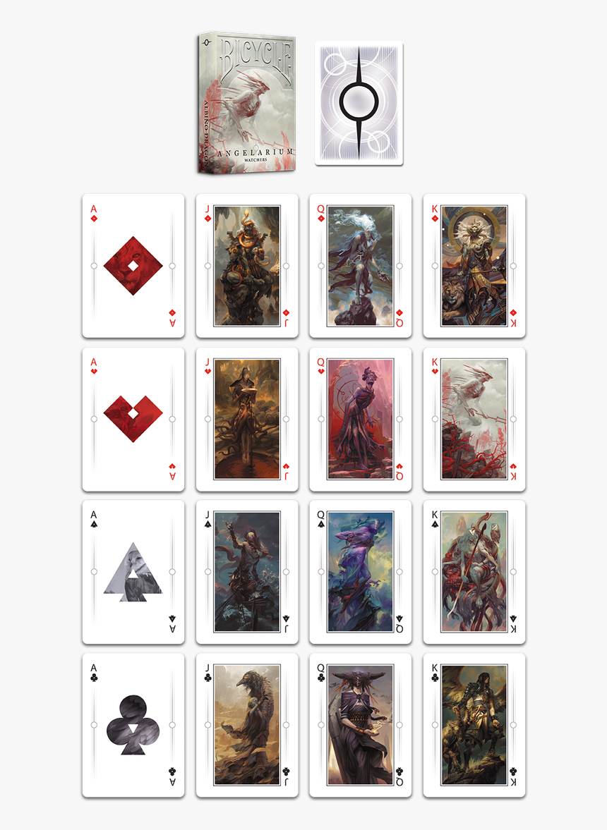 Angelarium Bicycle Cards, HD Png Download, Free Download