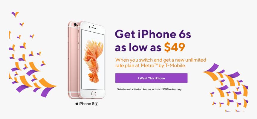 Iphone 6s From Metropcs - Metropcs Black Friday Deals 2019, HD Png Download, Free Download