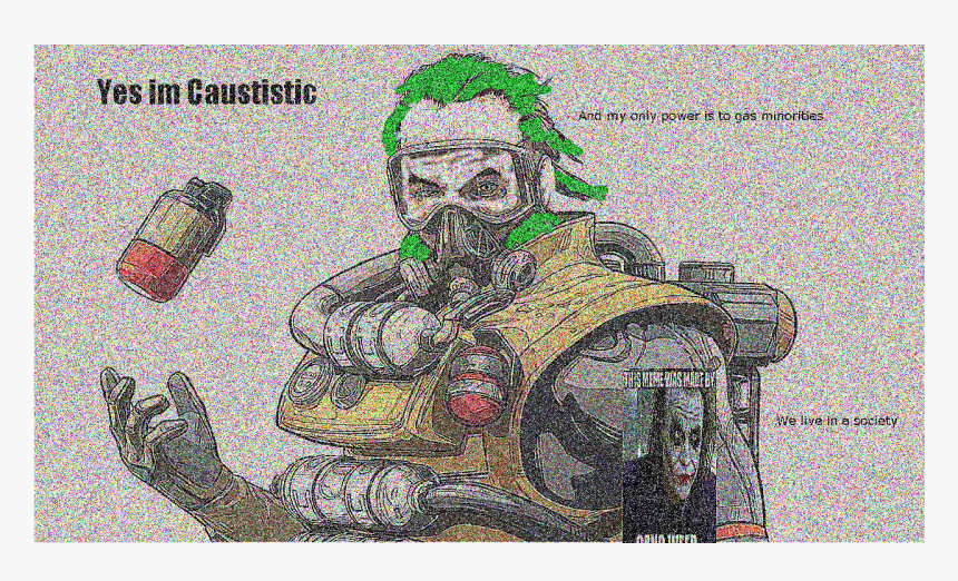 Transparent Gaming Icon Png - Caustic From Apex Legends, Png Download, Free Download