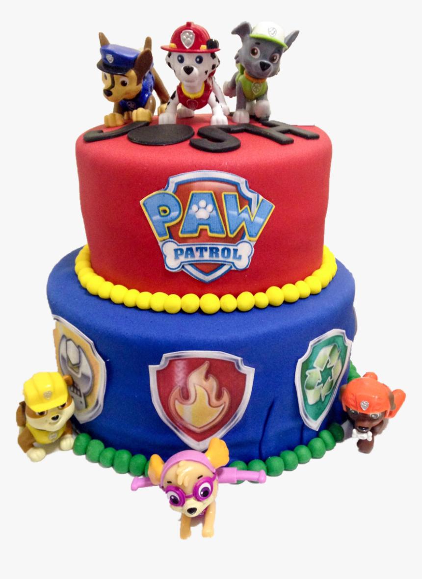 Paw Patrol Cake - Download Images Of Paw Patrol Birthday Cake, HD Png Download, Free Download