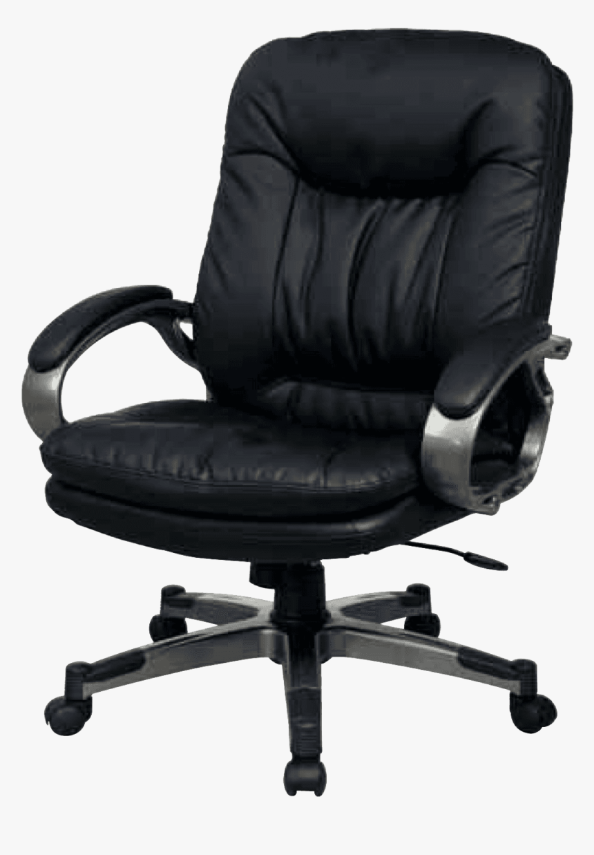Full Back Leather Office Chair, HD Png Download, Free Download