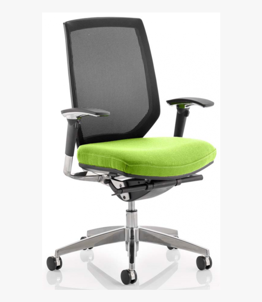 Midas Upholstered Green Executive Mesh Office Chair - Office Chair, HD Png Download, Free Download