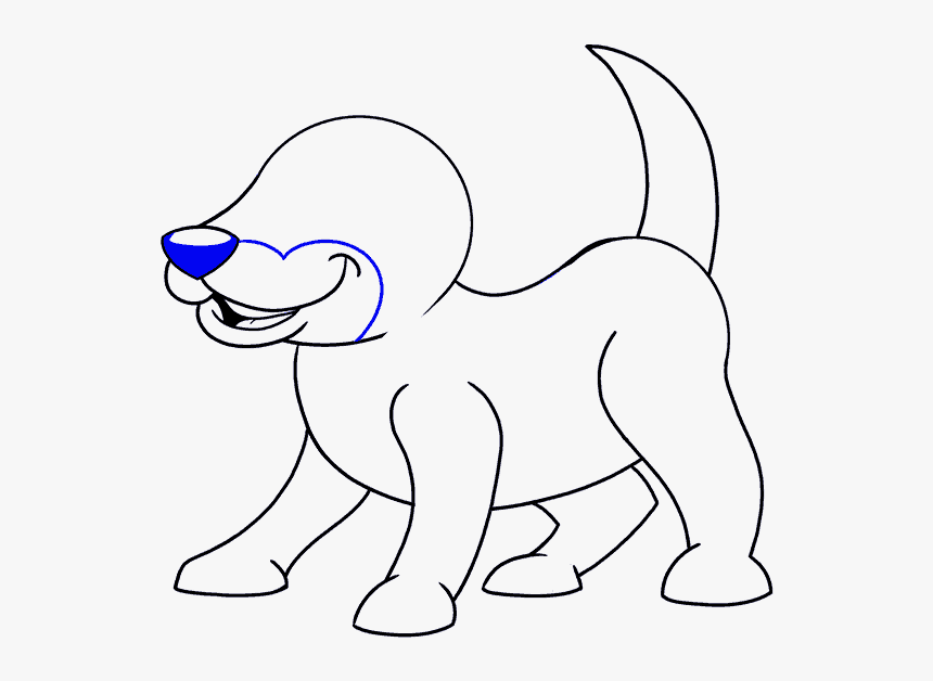 How To Draw Cartoon Dog Easy Cute Dog Cartoon Hd Png Download Kindpng