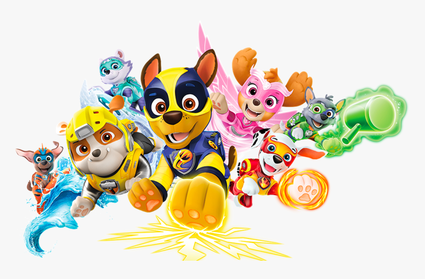 Paw Patrol Mighty Pups Png, Transparent Png, Free Download
