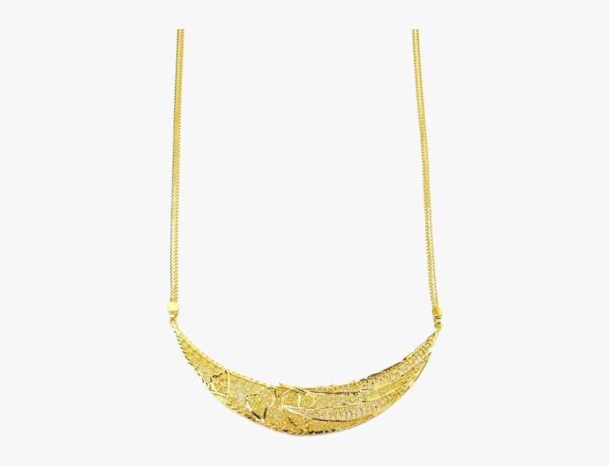 22k Gold Necklace Png Transparent Background - Necklace, Png Download, Free Download