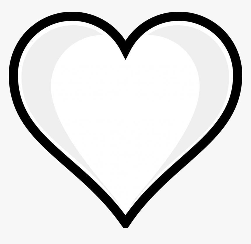 Heart Outline Svg Clip Arts - Heart Emoji Coloring Pages, HD Png Download, Free Download