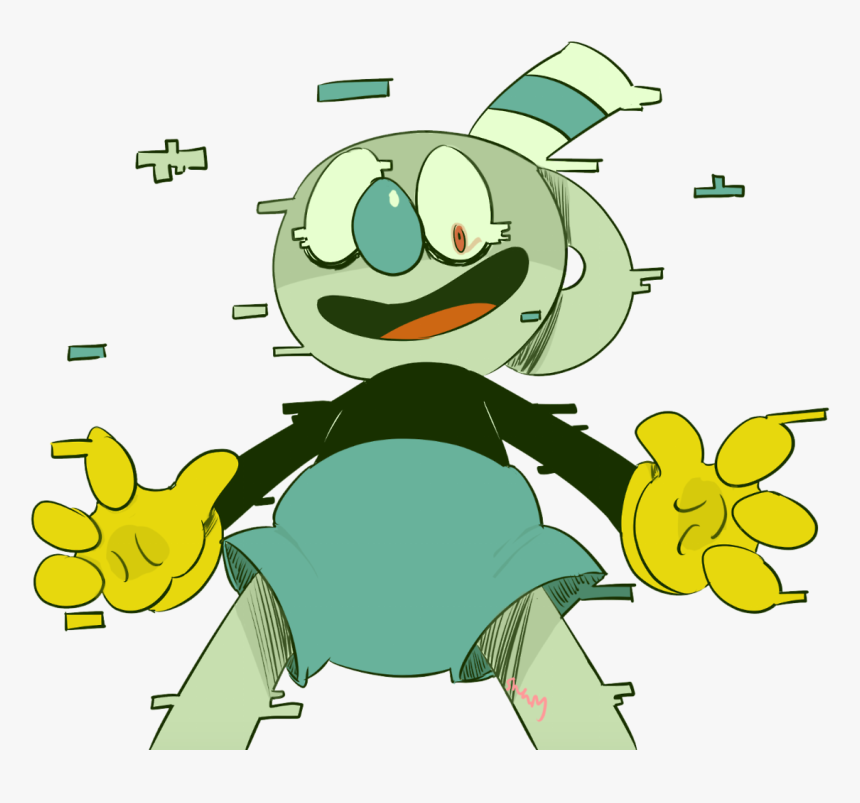So, I Made This Au Thing - Cuphead And Glitch Mugman, HD Png Download, Free Download