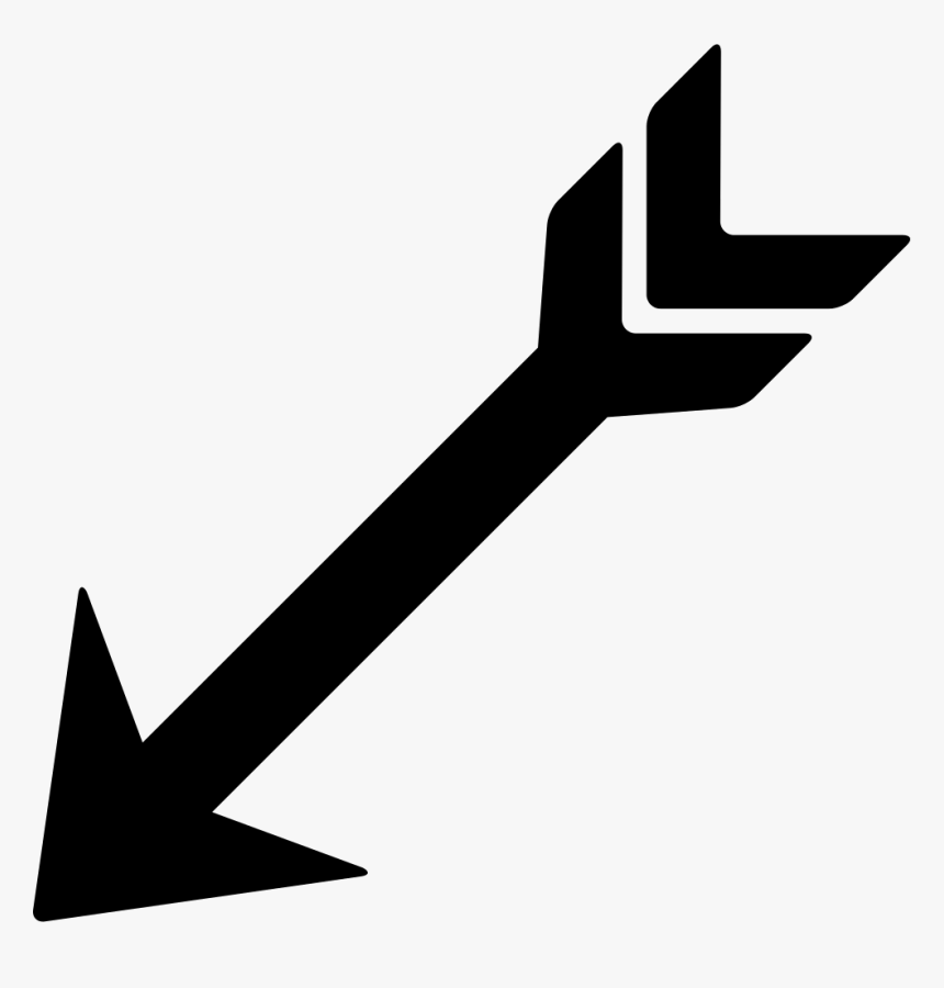Indian Clipart Arrow - Arrow Pointing Down Left, HD Png Download, Free Download