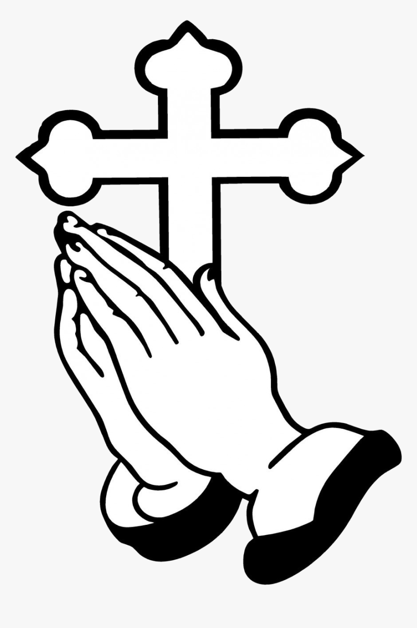 Praying Hands Christian Clip Art Ideas And Designs - Clip Art Prayer Hand, HD Png Download, Free Download
