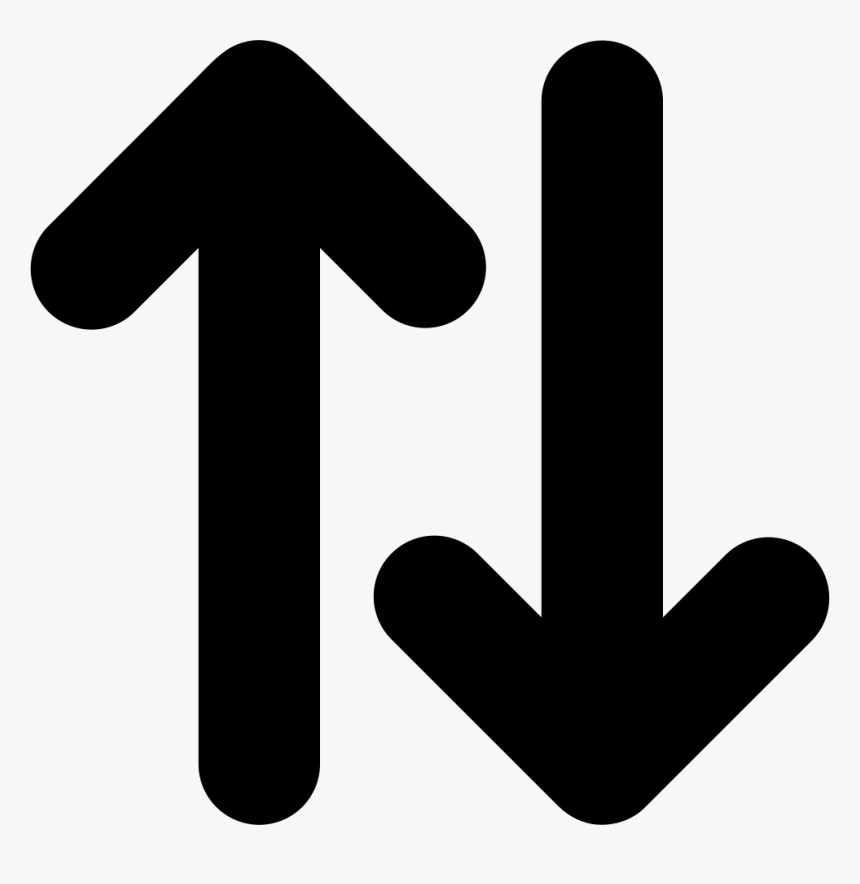 Up And Down Opposite Double Arrows Side By Side Svg - Up And Down Arrow Icon, HD Png Download, Free Download
