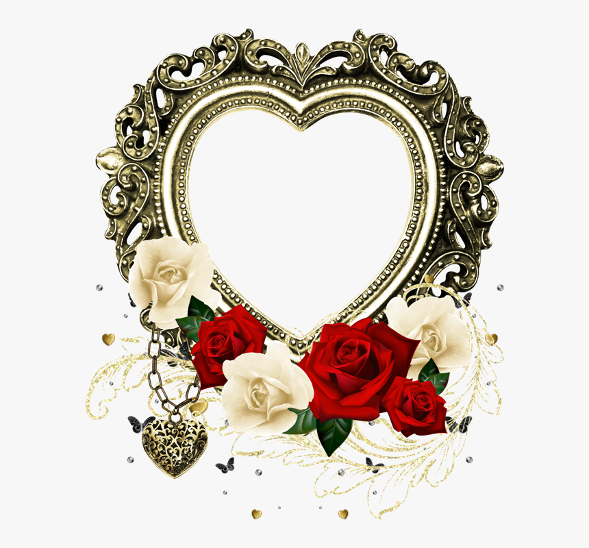 Heart Outline, Happy Heart, I Love Heart, My Heart, - Marcos De Corazon Con Flores, HD Png Download, Free Download