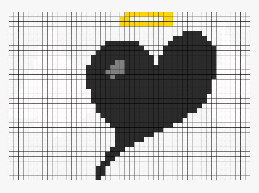 Angel Heart Perler Bead Pattern Bead Sprite Pixel Art