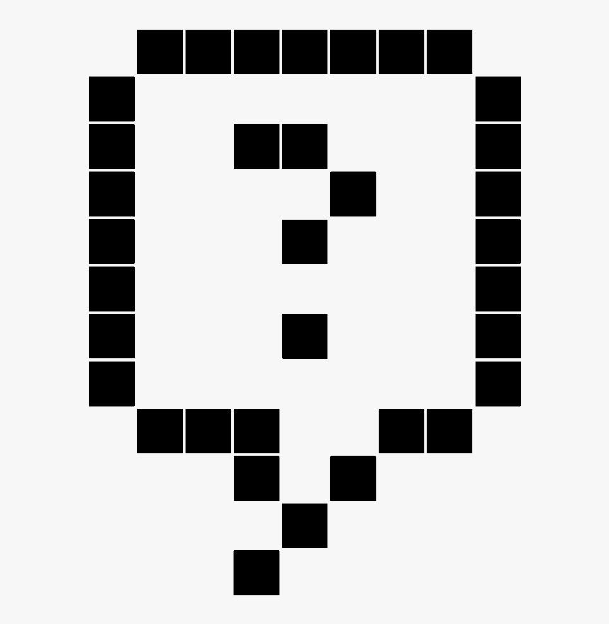 Sticker Point D Interrogation Clipart Png Download Point D Interrogation Pixel Art Transparent Png Kindpng