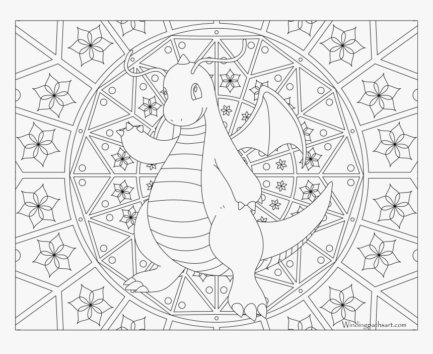 Coloring Pages Png Transparent Background Coloring - Adult Coloring Pages Pokemon, Png Download, Free Download