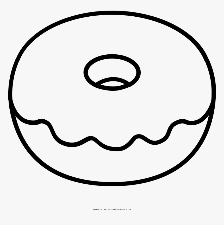Donut Coloring Pages Doughnut Page Ultra - Printable Donut Coloring Page, HD Png Download, Free Download