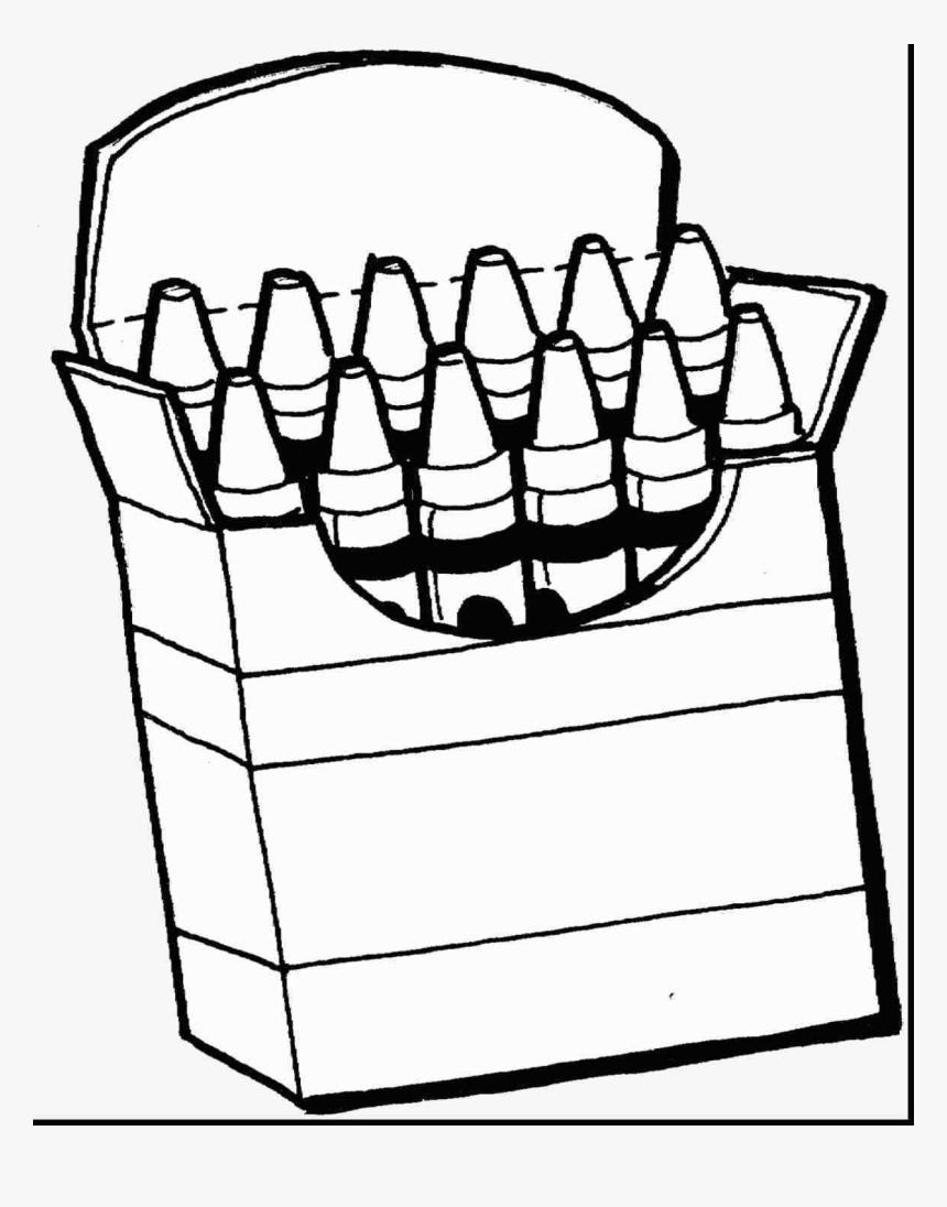 Gray Crayon Coloring Clip Art Black And White Pages - Colour ...