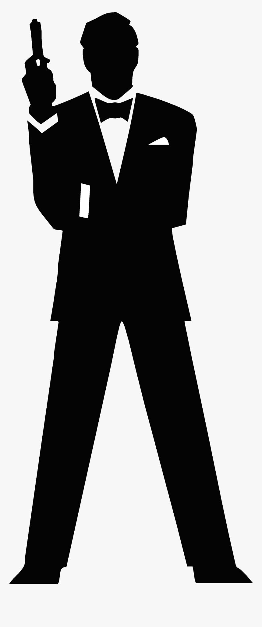 Clip Art James Bond Silhouette Clip Art - Sticker James Bond, HD Png Download, Free Download