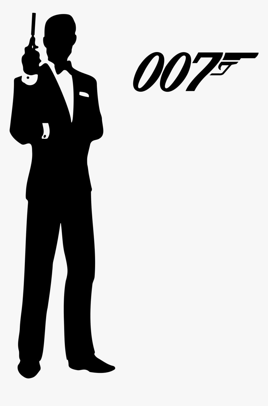 Clip Art James Bond Silhouette Clip Art - James Bond 007 Png, Transparent Png, Free Download