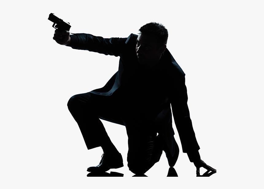 Bond - Man Gun Silhouette Png, Transparent Png, Free Download