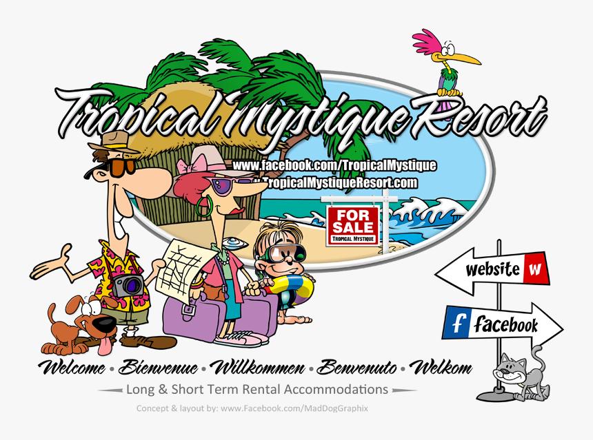 Tropics Clipart Resort - Cartoon Tourist, HD Png Download, Free Download