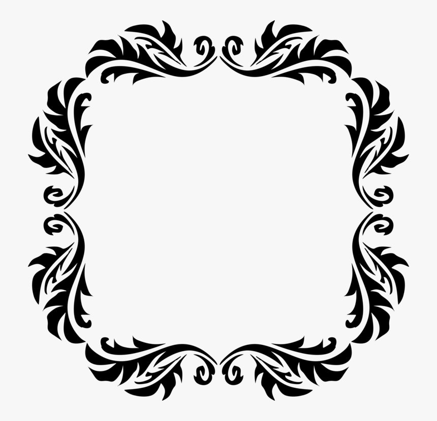 Borders And Frames Drawing Line Art Picture Frames Square Frame