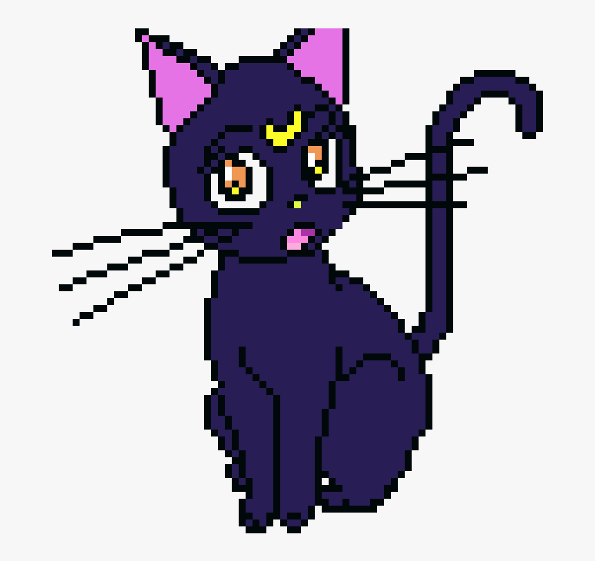 Sailor Moon Logo Cat Pixel Art Sailor Moon Hd Png Download Kindpng Pixel art showing a black cat sitting in front of. sailor moon logo cat pixel art sailor