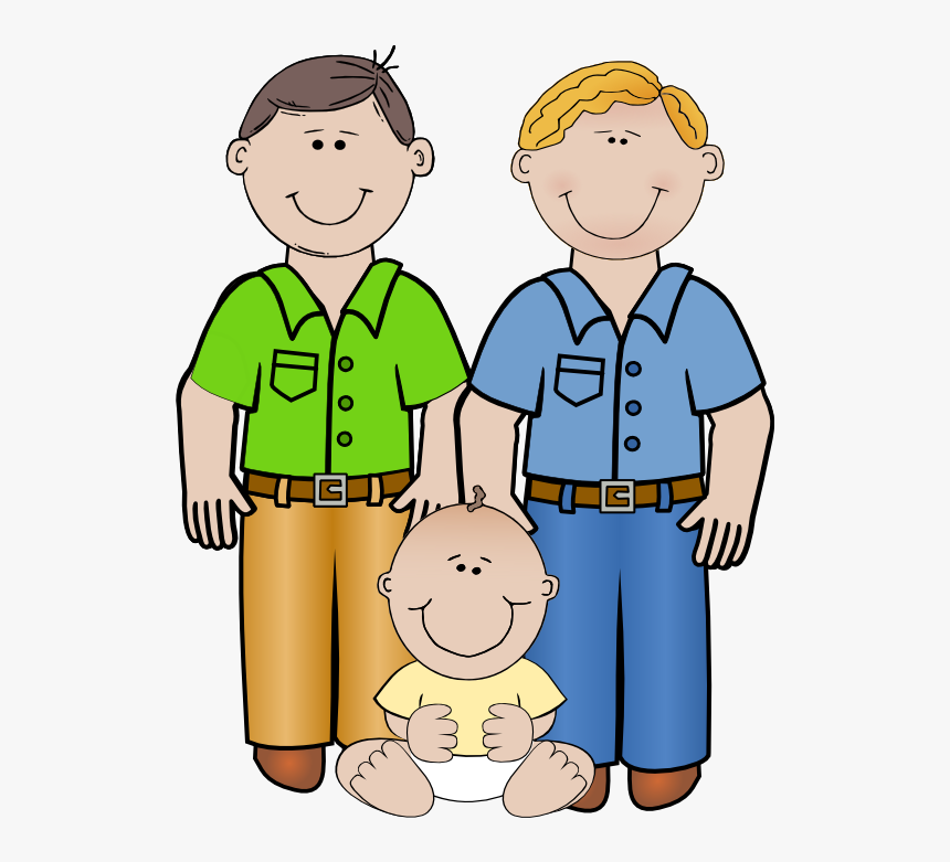 Two Dad Family Clipart, HD Png Download, Free Download