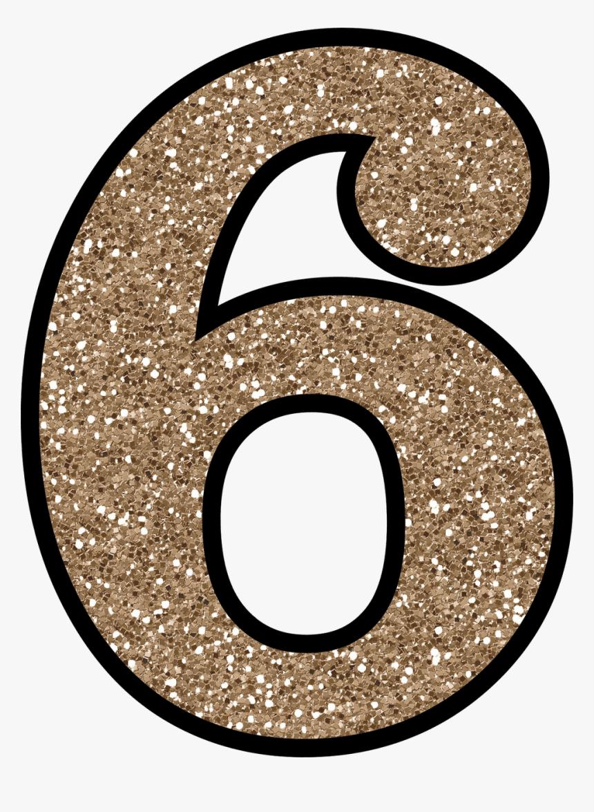 Glitter Number 6, HD Png Download - kindpng