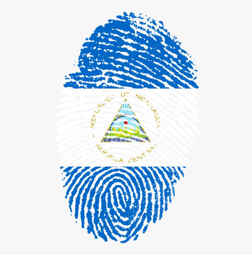 Transparent Bandera De Estados Unidos Png - Nicaragua Flag Fingerprint, Png Download, Free Download