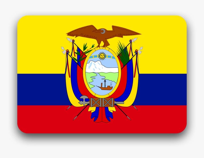 Bandera De Estados Unidos - Ecuador Flag In A Circle, HD Png Download, Free Download