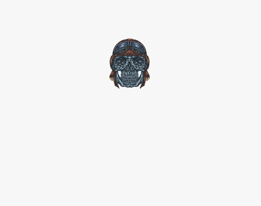 Motorcycle Rider Skull With Helmet And Goggles Tattoo - Skull, HD Png Download, Free Download
