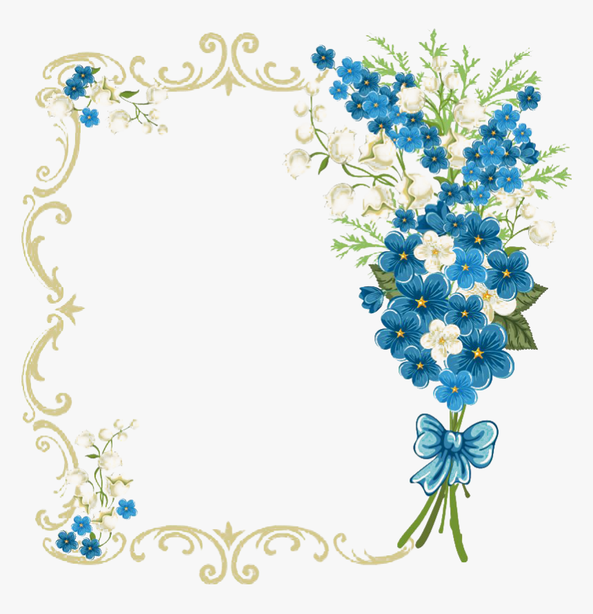 vintage floral blue frame transparent royal blue background in wedding invitation hd png download kindpng vintage floral blue frame transparent