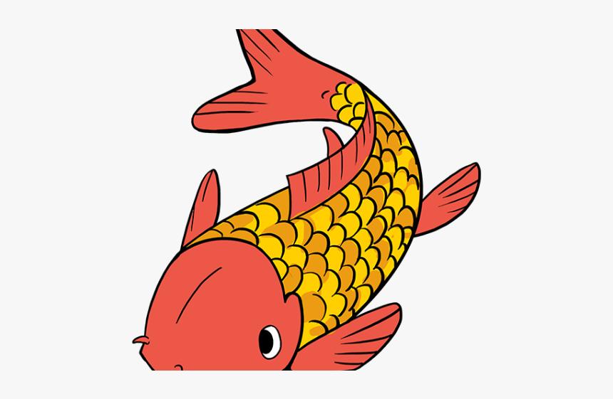 Koi Fish Cartoon Koi Fish Drawing Easy Hd Png Download Kindpng