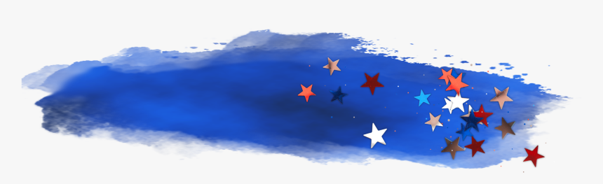 #freetoedit #watercolor #blue #stars #sky #brush #stroke - Painting, HD Png Download, Free Download