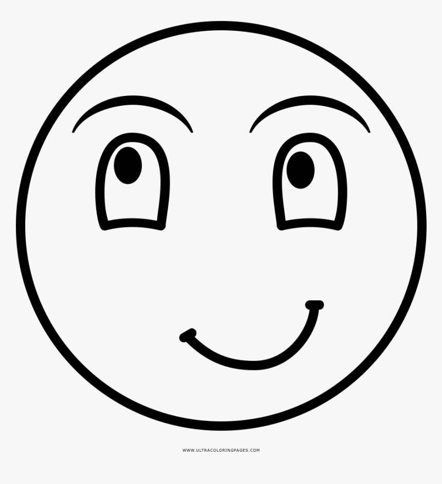 - Laughing Face Coloring Page - Smiley, HD Png Download - Kindpng