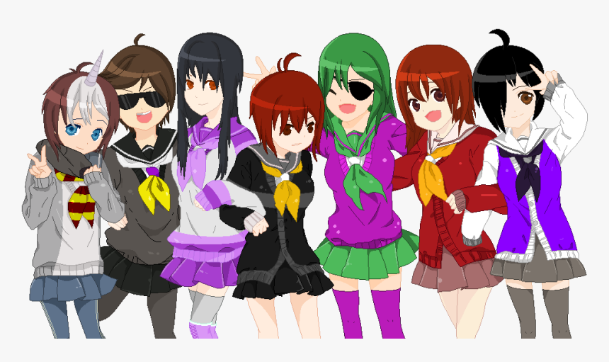 Transparent Group Of Friends Png Barney And Friends Anime Png Download Kindpng