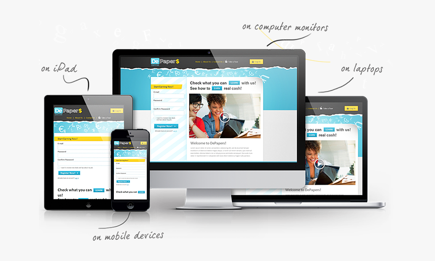 Psd To Responsive Website Template Psd To Responsive Website Hd Png Download Kindpng